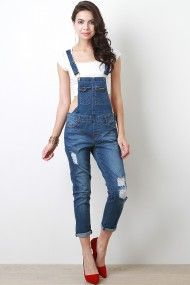 Tough Revenge Overalls - This country girl loves her overalls with heels!