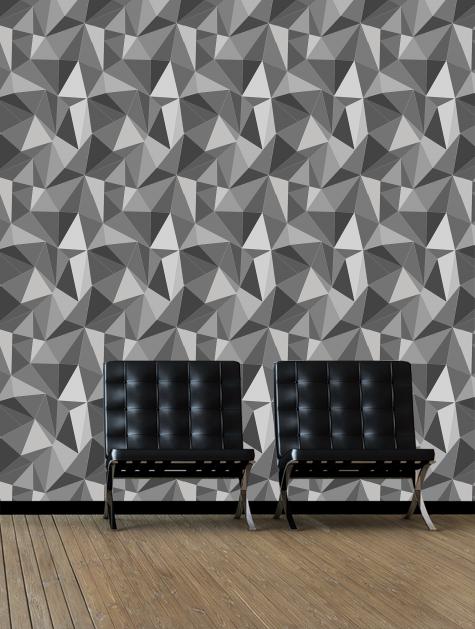 Wallpaper Calculator Facet Grey Zoom View Gallery Window