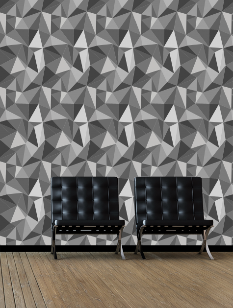 Wallpaper Calculator. Facet Grey Zoom. + View Gallery