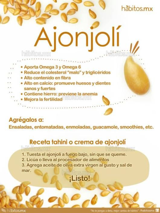 Beneficios Del Ajonjolí Health And Nutrition Health Healthy Healthy Nutrition