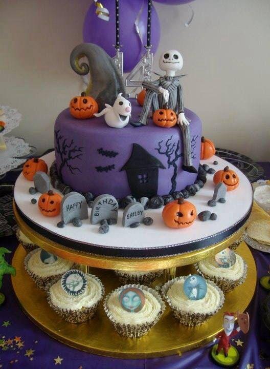 Nightmare before Christmas cake Fall / Halloween / Thanksgiving - halloween birthday cake ideas