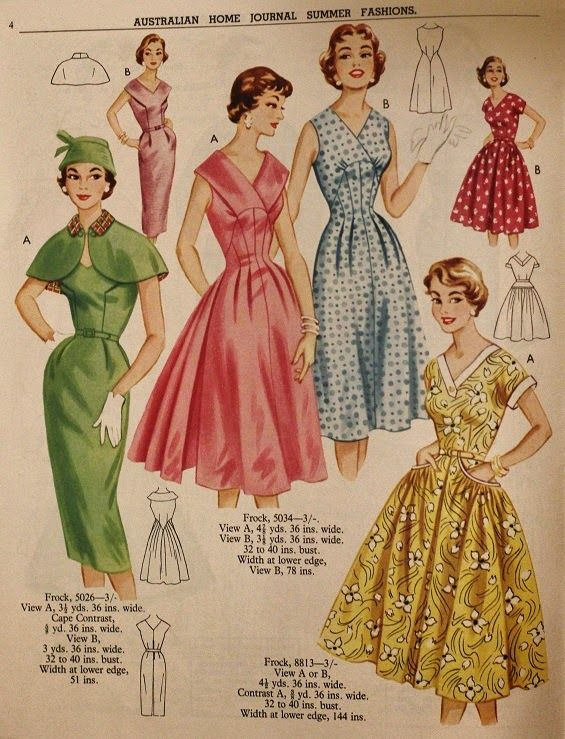 Australian Home Journal Vintage Sewing Pattern Catalogue 1957 www ...