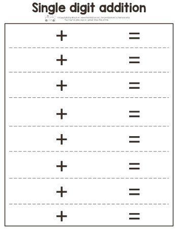 fall single digit addition worksheets free printables for kids addition worksheets math. Black Bedroom Furniture Sets. Home Design Ideas