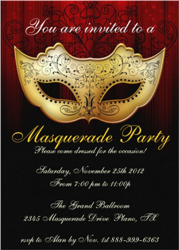 Image result for masquerade ball invitations Invitations Pinterest - free party invitation templates word