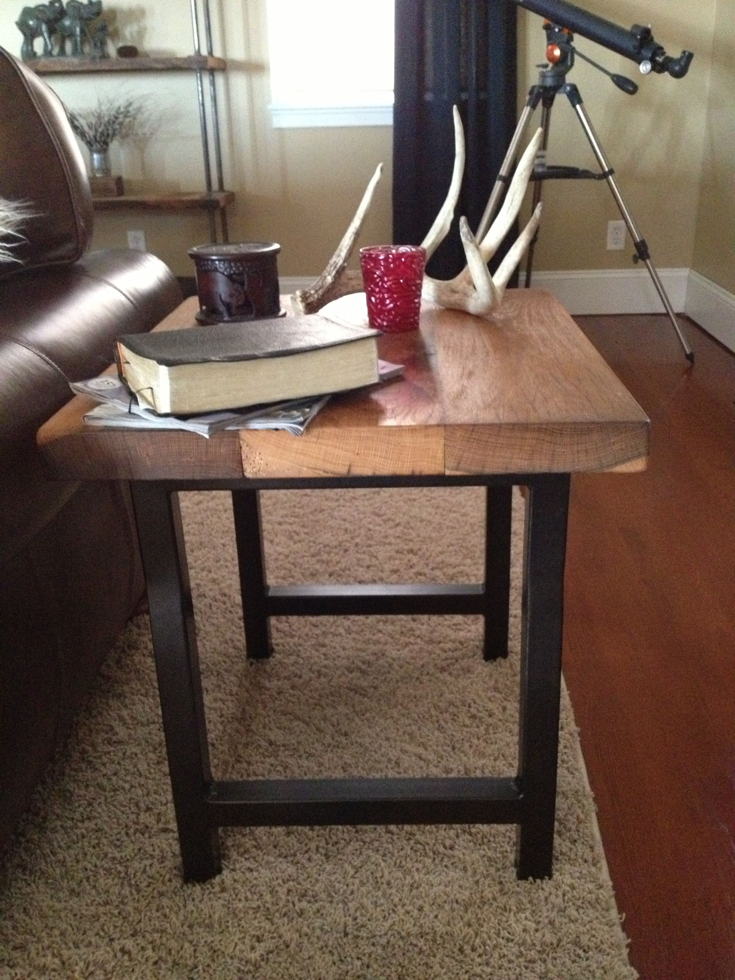 DIY griffin pottery barn side tables, made with metal tubing and