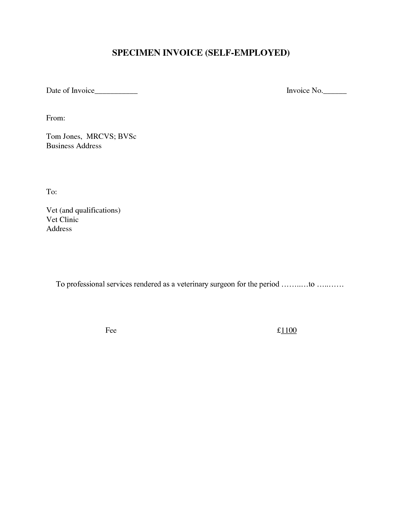 Attractive Self Employed Invoice Template How To Be Successful