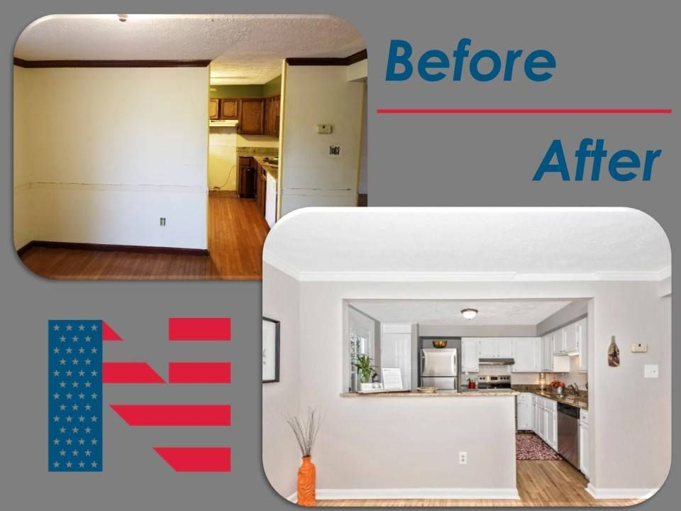 ReDesign of a kitchen in a townhome in preparation for a