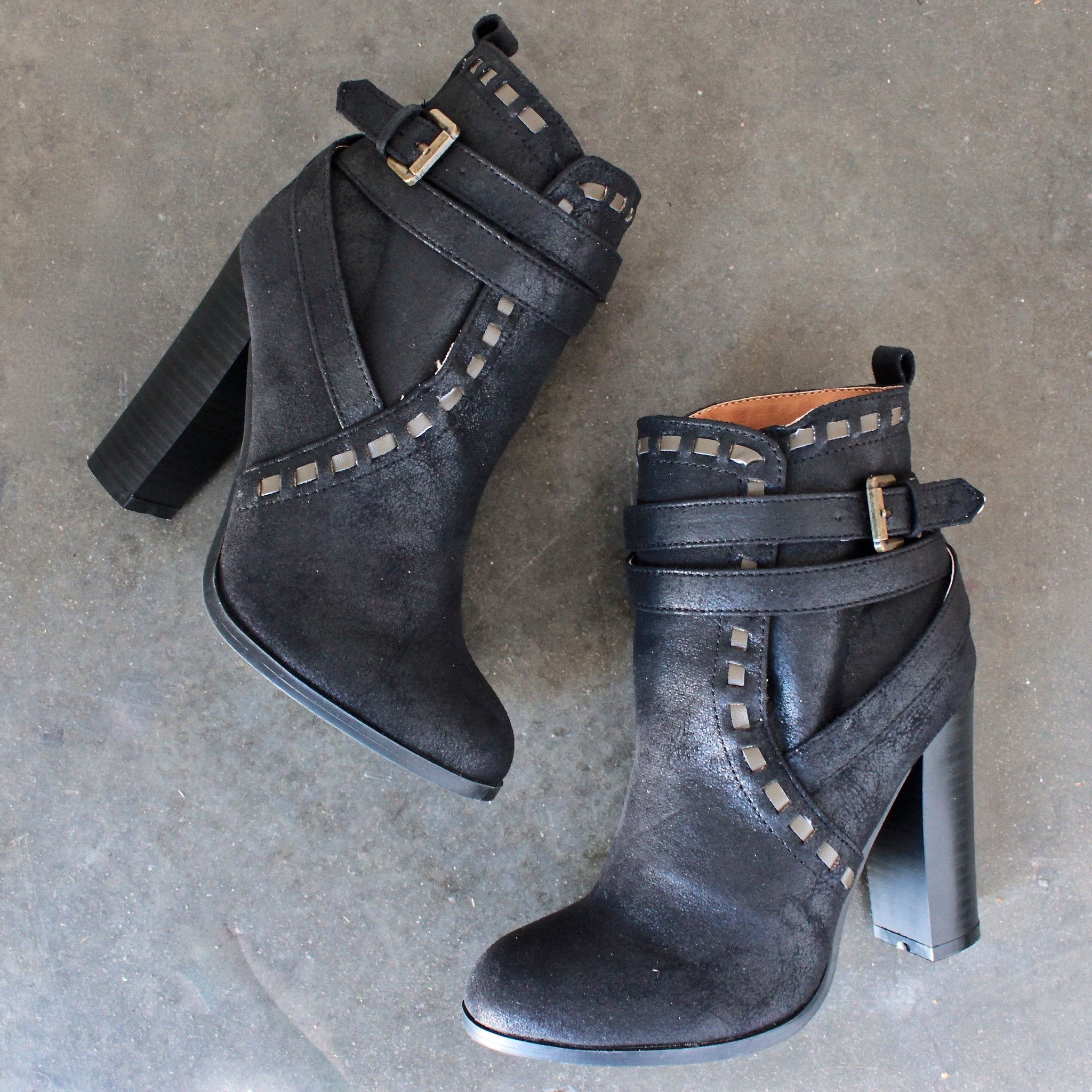 7d67dc85b72e fairest ankle boot of them all in black - shophearts - 1   Shoes ...