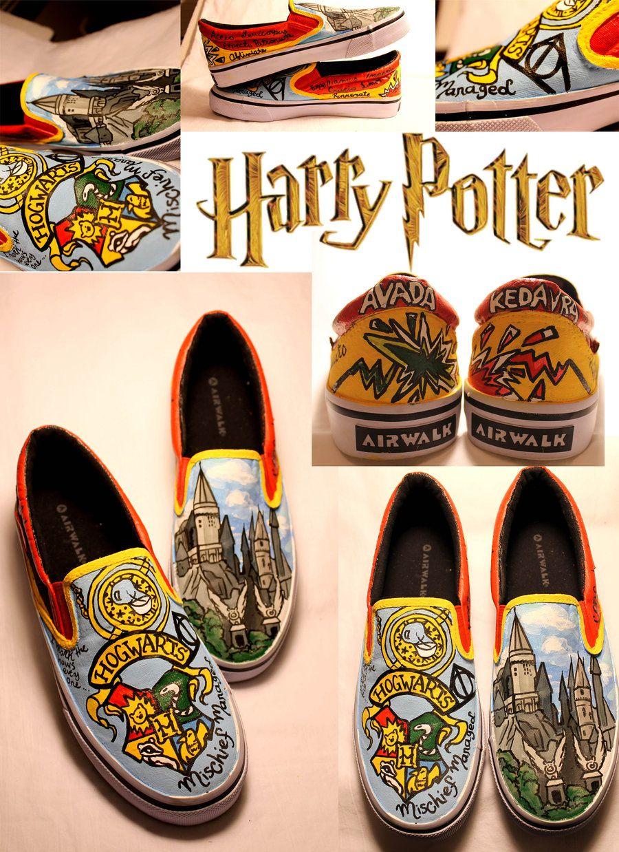 777f7a7e18a8c HARRY POTTER SHOES by artsyfartsyness.deviantart.com | Hogwarts in ...