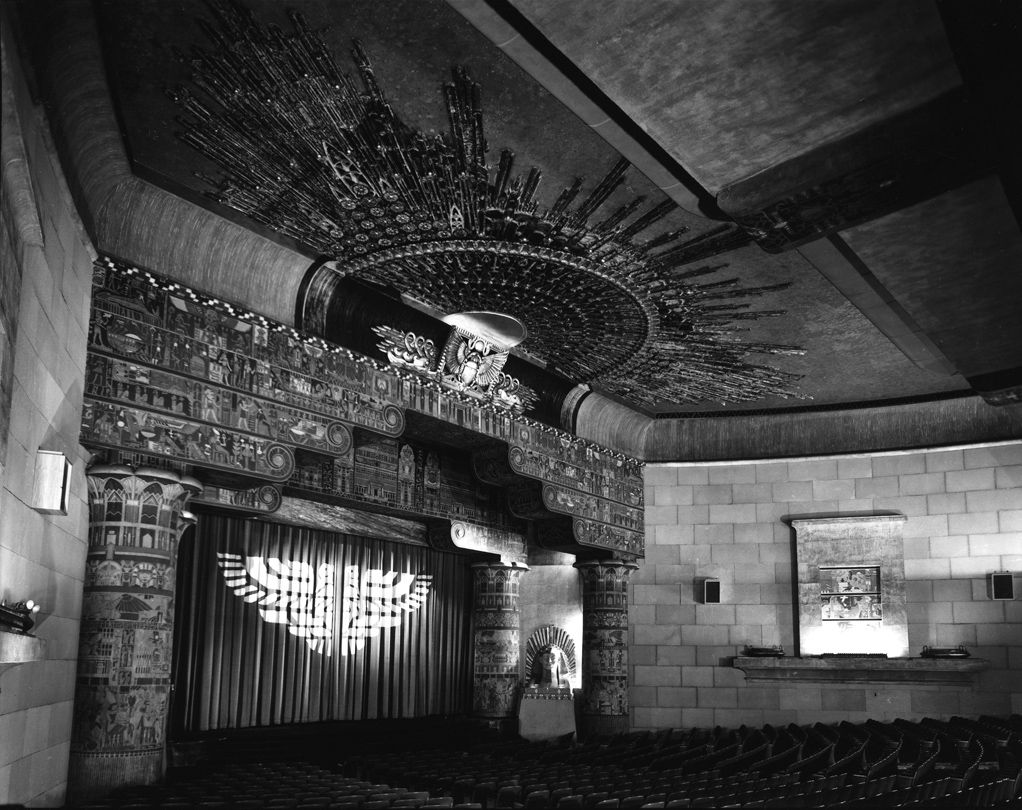 Egyptian Revival Architecture photography by Harold Allen: Grauman's Egyptian Theater, Hollywood, California  c. 1950s Harold Allen (1912–98)