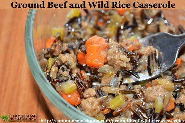 Ground Beef And Wild Rice Casserole An Easy One Pot Meal Recipe Wild Rice Recipes Wild Rice Casserole Vegan Recipes Healthy