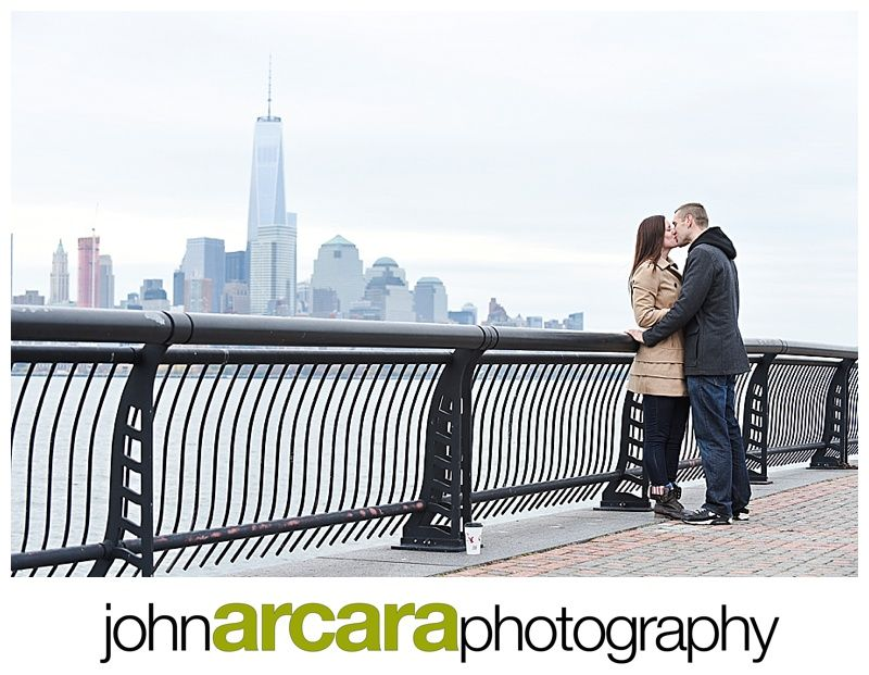 Beautiful Skyline in Hoboken for this Engagement Session