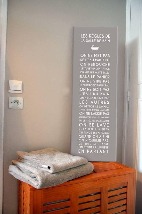 Regle De La Salle De Bain Citations Pinterest