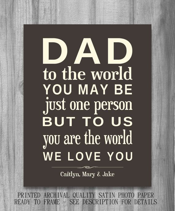 Father Son Quotes Tattoos Pin Fathers Day Quotes Happy: DIGITAL FILE Fathers Day Gift For Dad, From Children From