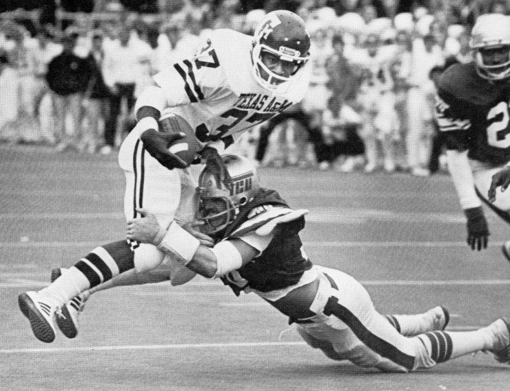 Texas A&M running back Johnny Hector ('79'82) 19811990