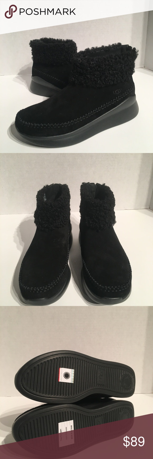 9bc447bb76d Ugg Montrose Zipper Black Wedge Sneaker New with box Buyers are ...