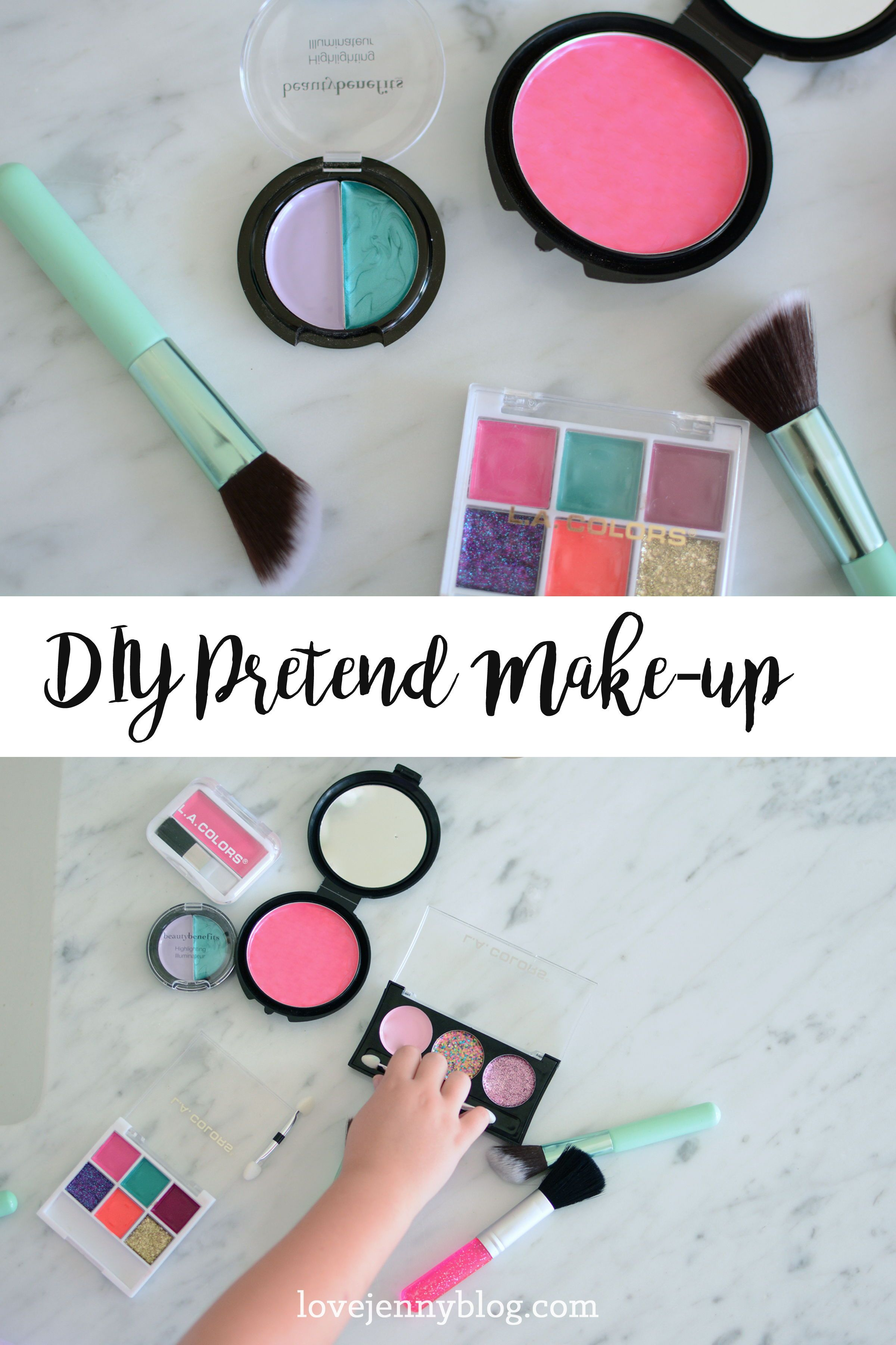 DIY Pretend Makeup for Kids (With images) Kids makeup