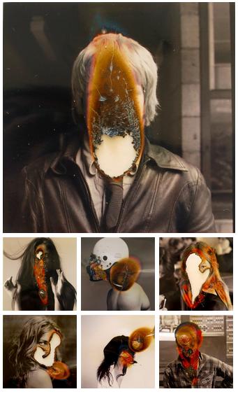 """Ausência"", burned photographs by Lucas Simões"