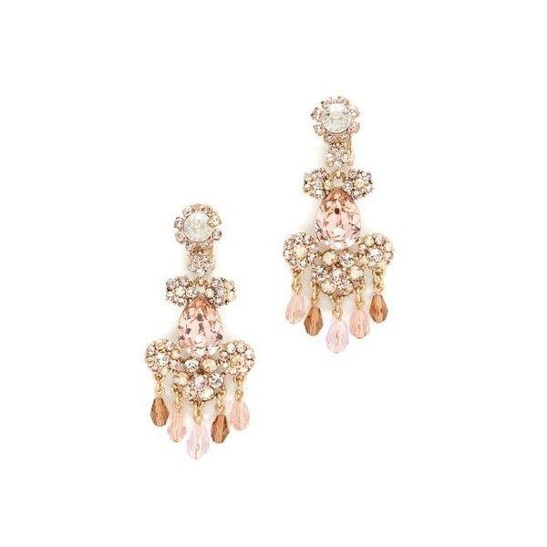 3b694d1a360 Oscar de la Renta Crystal Flower Bold Clip On Earrings ($400) ❤ liked on