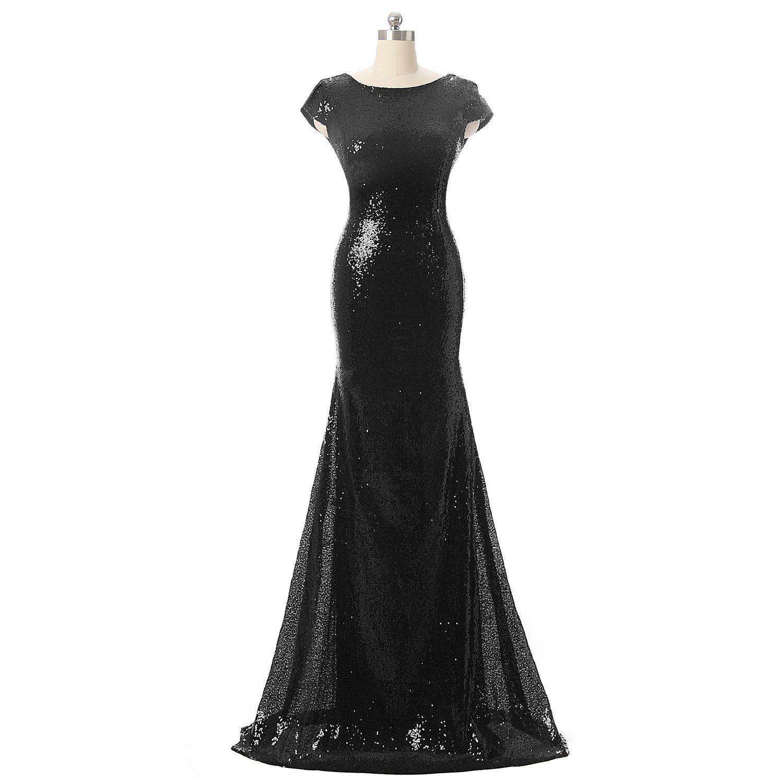 Photo of Dieses formelle Kleid besteht aus glänzenden Pailletten und einem tiefen …