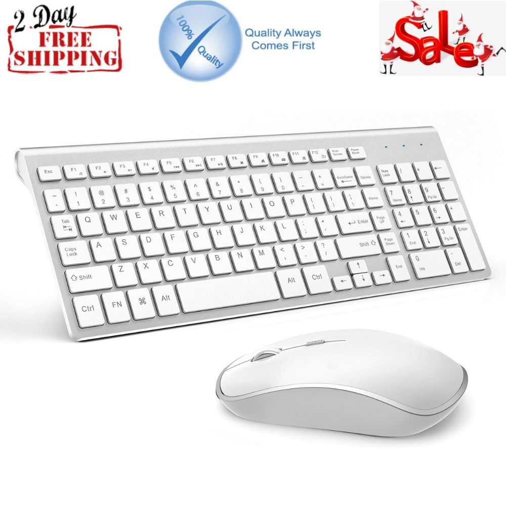 b12a467f8be Wireless Keyboard And Mouse Bundle Combo Set For Mac Apple Full Size 2.4G  Slim (eBay Link)