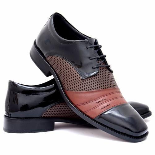7c7251dd9 Sapato Social Verniz Masculino Super Conforto Sapatofran - R$ 169,91 ...