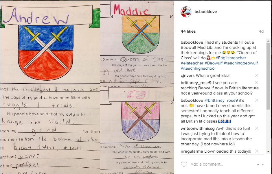 beowulf shield and crest activity  english teacher ideas  beowulf  beowulf shield and crest activity