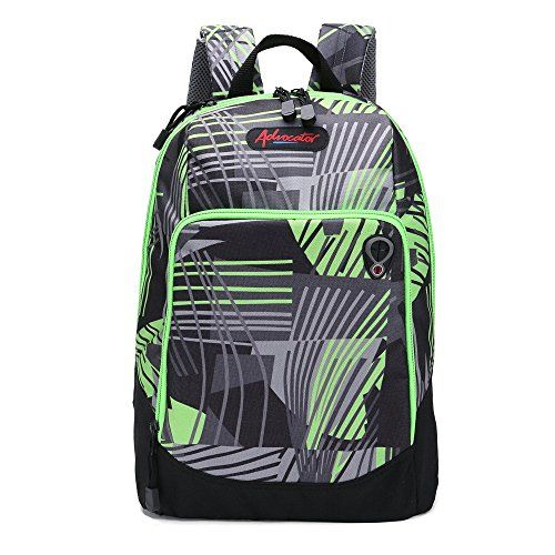 Advocator Below 20L Printed Stripe School Bag Casual Backpack College Daypack ** See this great product.