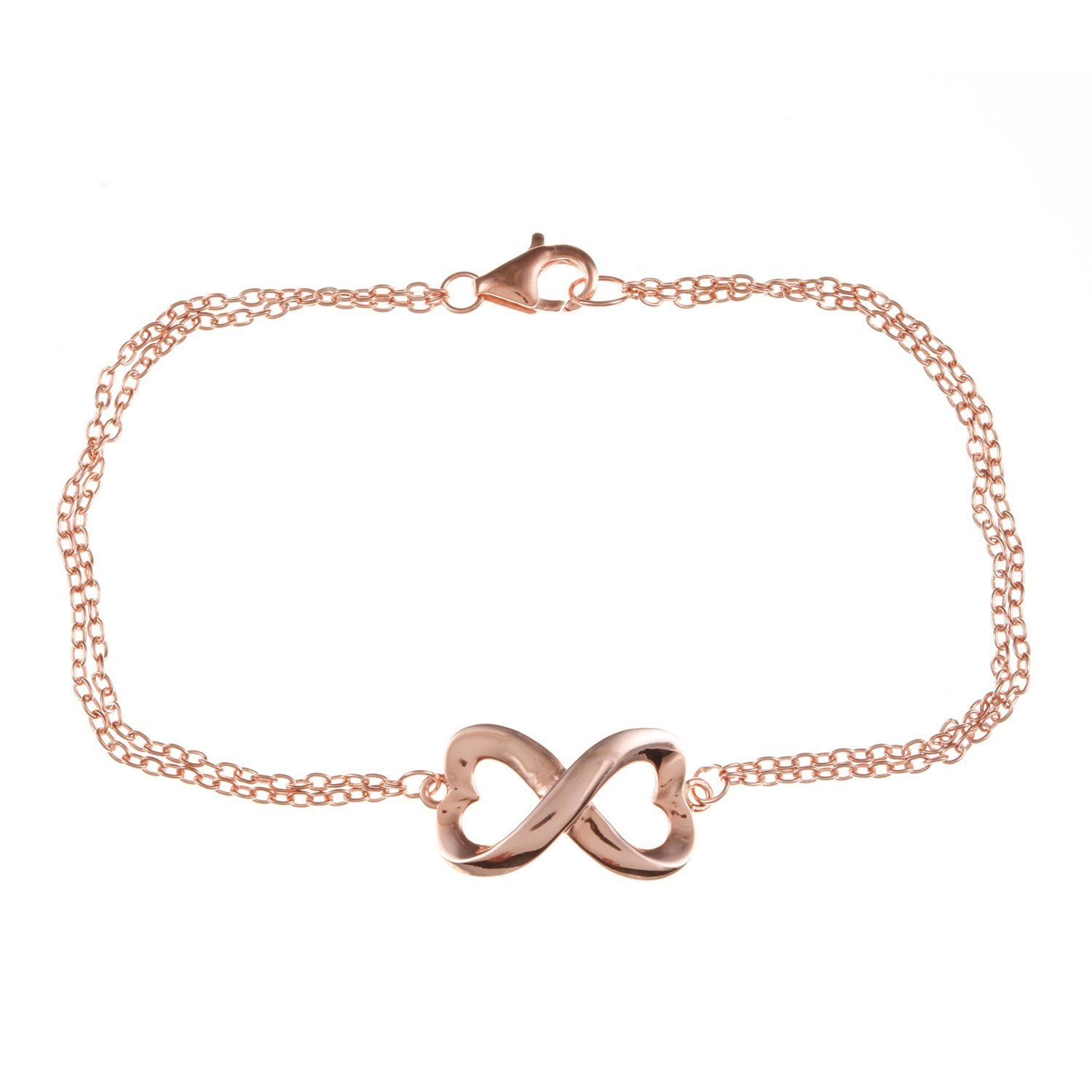 Sterling silver rosegold plated