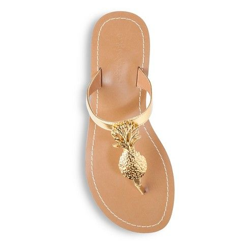 a4f62e5b5bf6 Lilly Pulitzer for Target Women s Gold Sandals - Pineapple.. size 8  30  LISTED