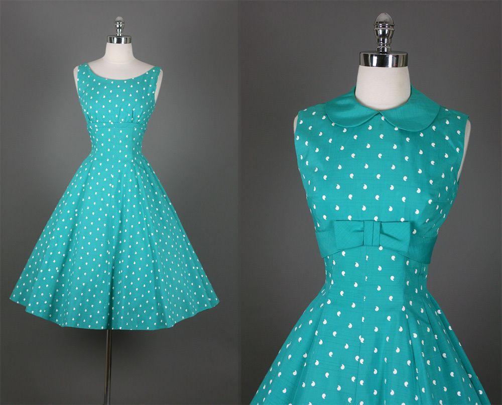 Vintage 50s Elegant New Look Shelf Bust Party Dress~ | Pinterest ...