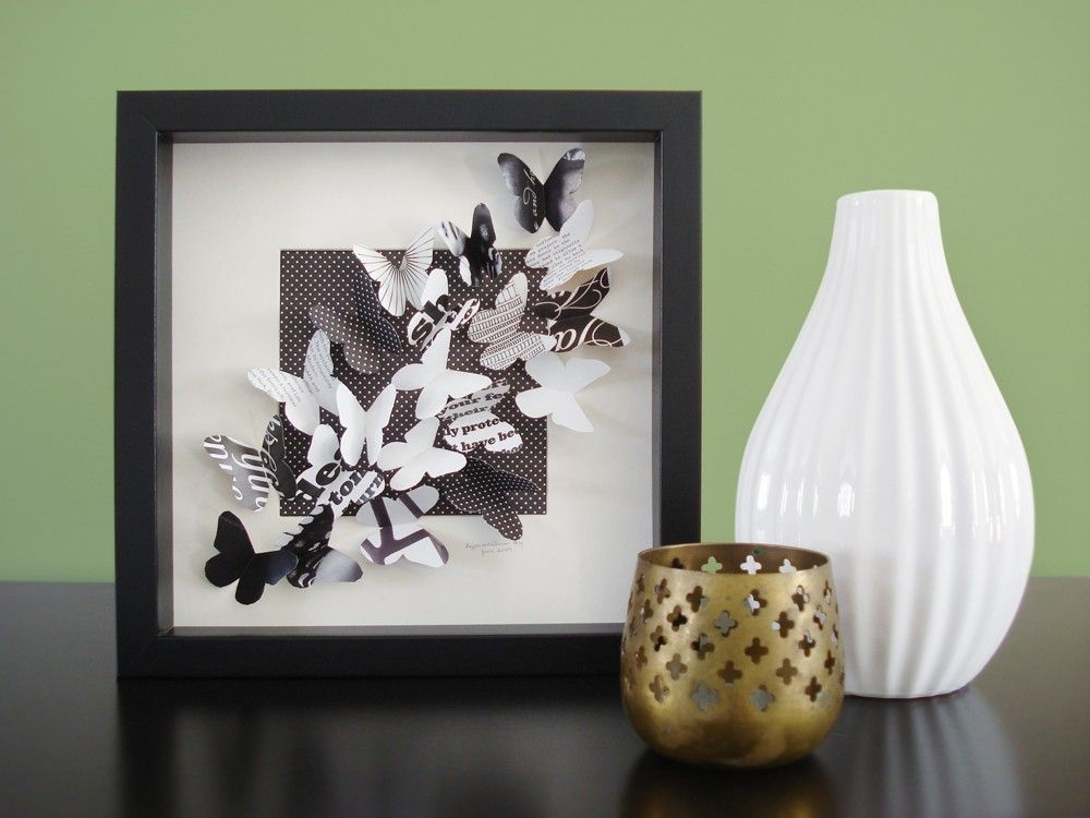 The Trend-setter - recycled paper butterfly shadow box | ♥ IT ...