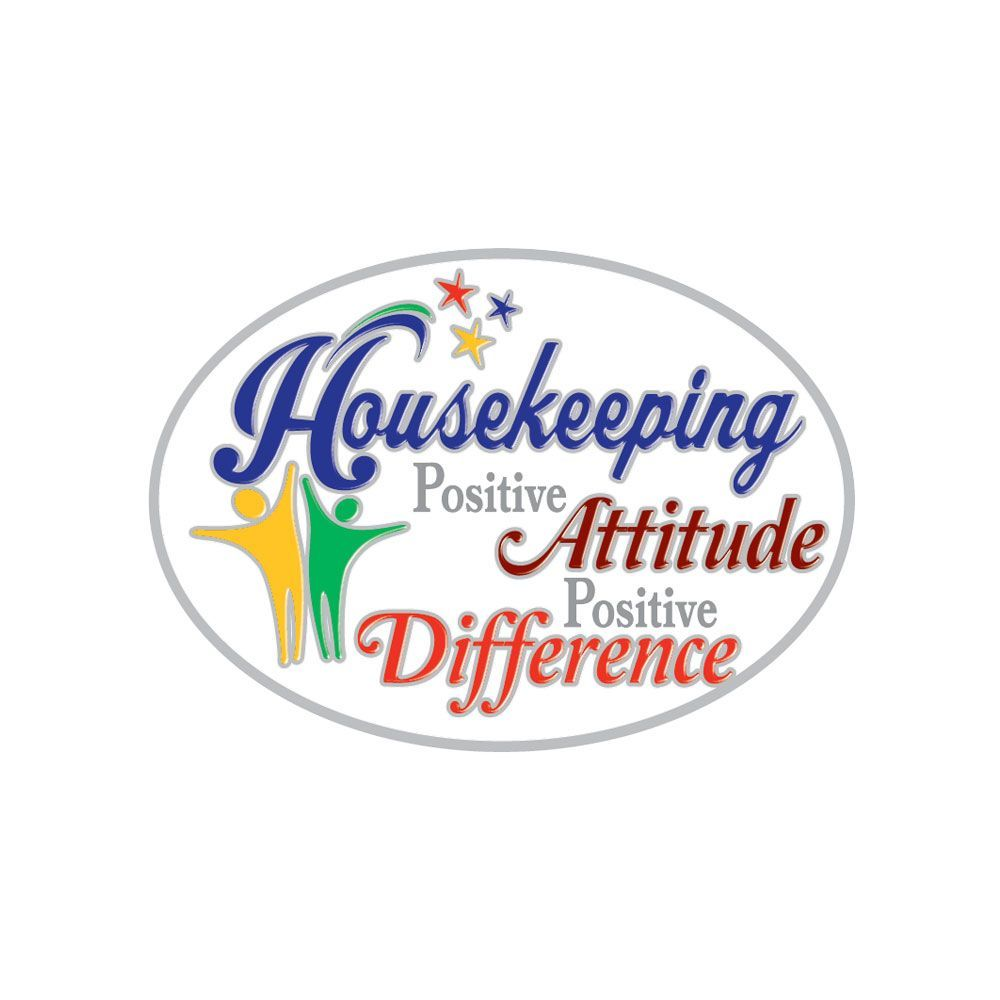 Housekeeping Positve Attitude Positive Difference Lapel