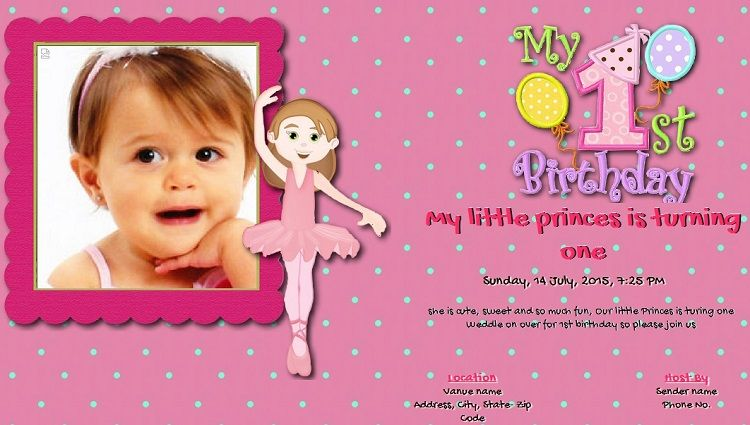 Pink Birthday Invitation Card In Hindi Buick Pinterest Pink