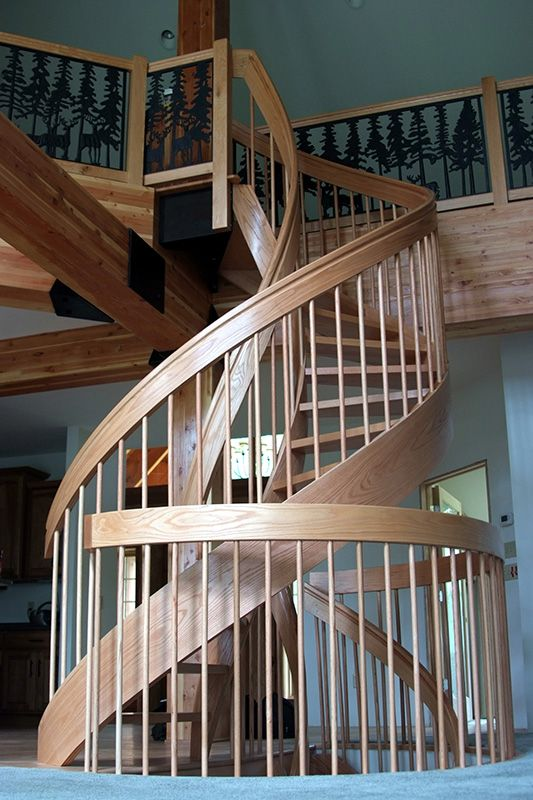 View Photos Of Double Helix Wooden Spiral Staircases From Spiral