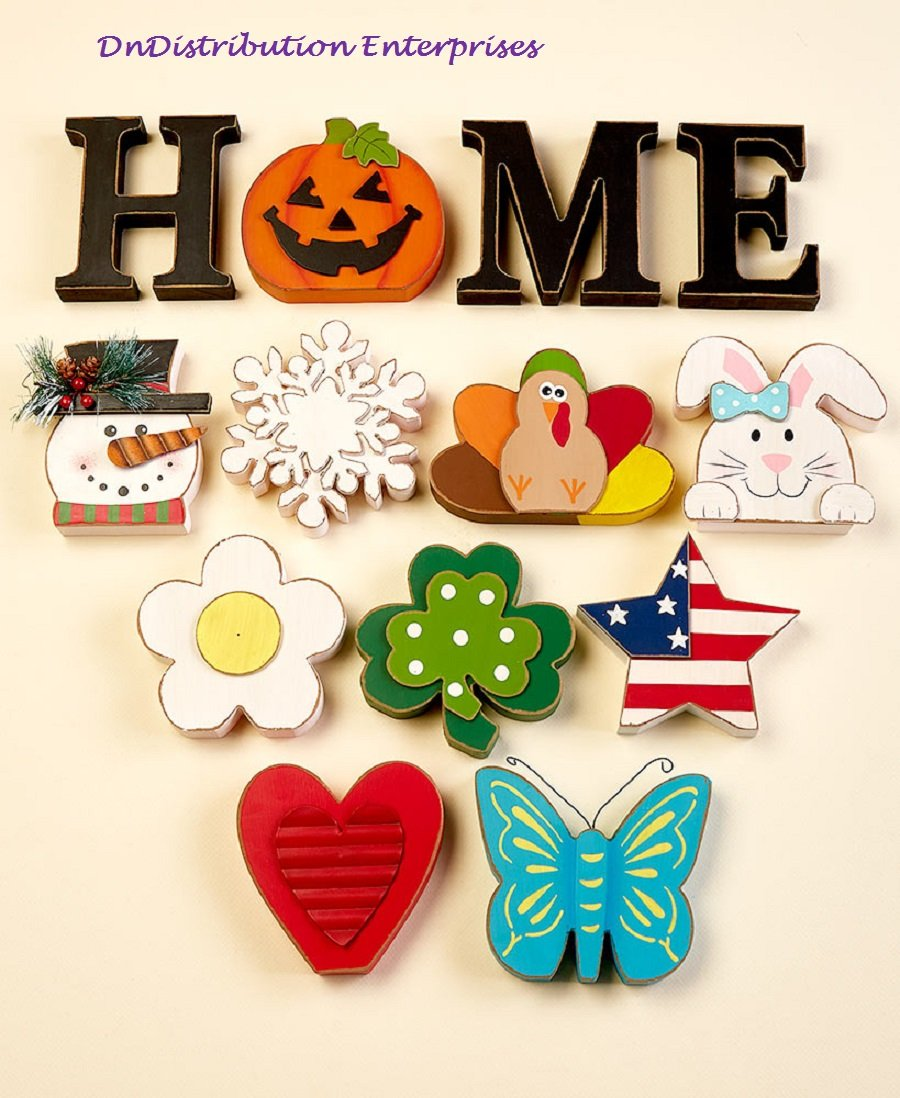 Seasonal Interchangeable Home Sign 10 Icons Seasons Holidays Sentiment Decor Homedecorideas In 2020 Crafts Home Signs Cute Dorm Rooms