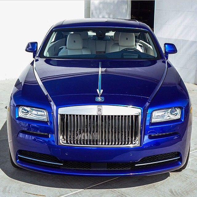 Royal Blue Rolls Royce Wraith