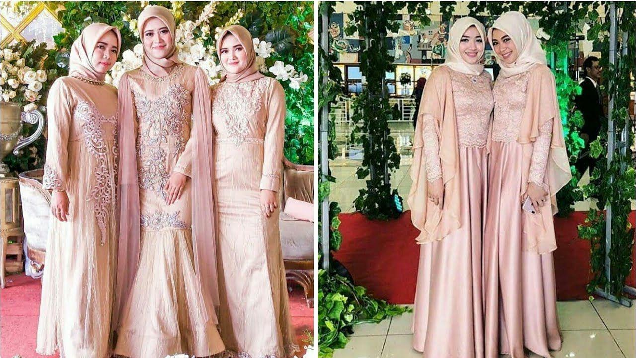 12 Model Baju Gamis dan Kebaya Brokat Pesta Muslim Modern di Tahun