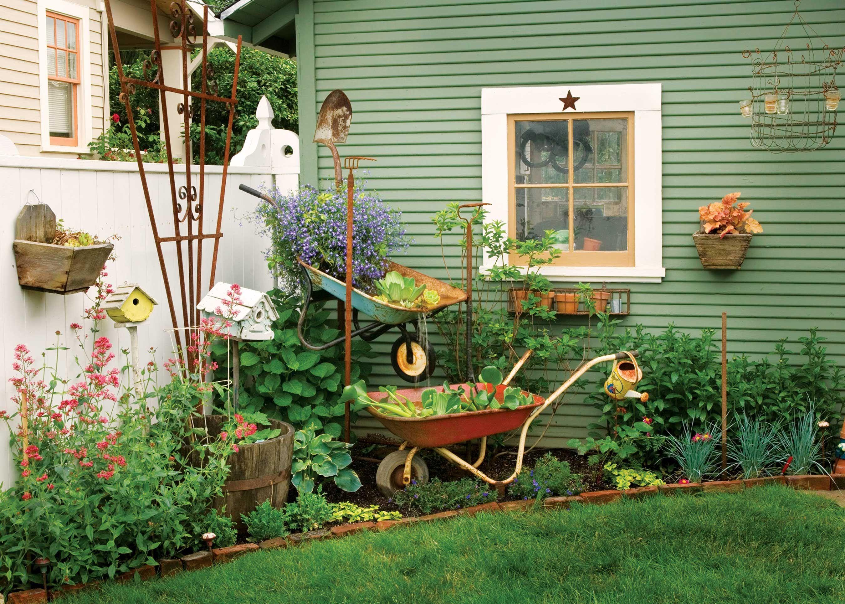 Try This: Wheelbarrow Garden Fountain - Green Homes - Natural Home ...