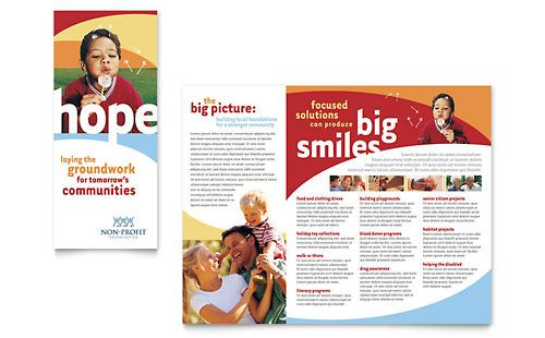 Community Non Profit Brochure Template By Stocklayouts Church