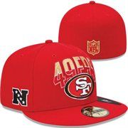 New Era San Francisco 49ers 2013 NFL Draft 59FIFTY Fitted Hat - Scarlet 1e67c2f9f