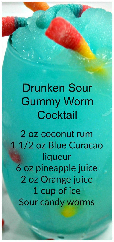 Photo of Drunk Sour Gummy Worm Cocktail – #Drunk #gummy #saur …