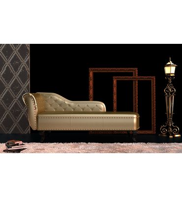 Recamiere Chaiselongue recamiere chaiselongue chesterfield gold goldene wohnaccessoires