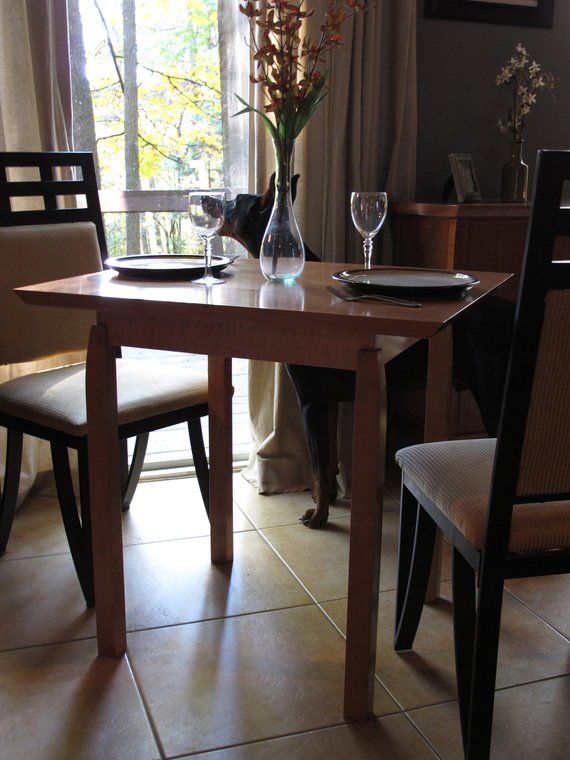 Narrow Dining Table For Two Small Kitchen Breakfast Nook Card Handmade Wood Furn