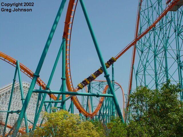 Goliath Six Flags Magic Mountain Valencia California Usa Six Flags Roller Coaster Valencia