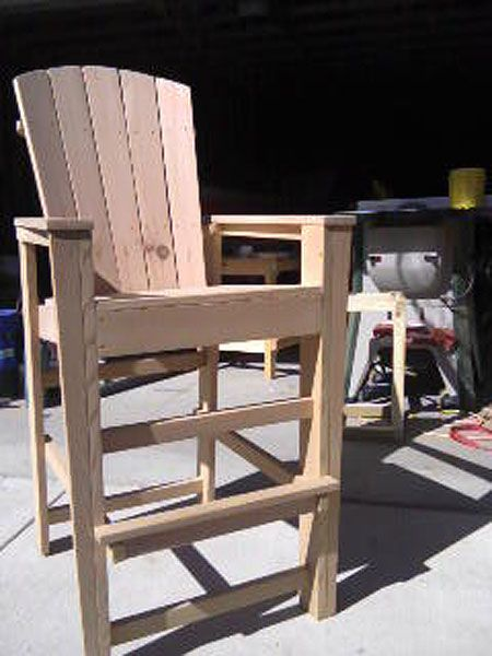 Bar Height Adirondack Chairs From Scrap Wood Adirondack