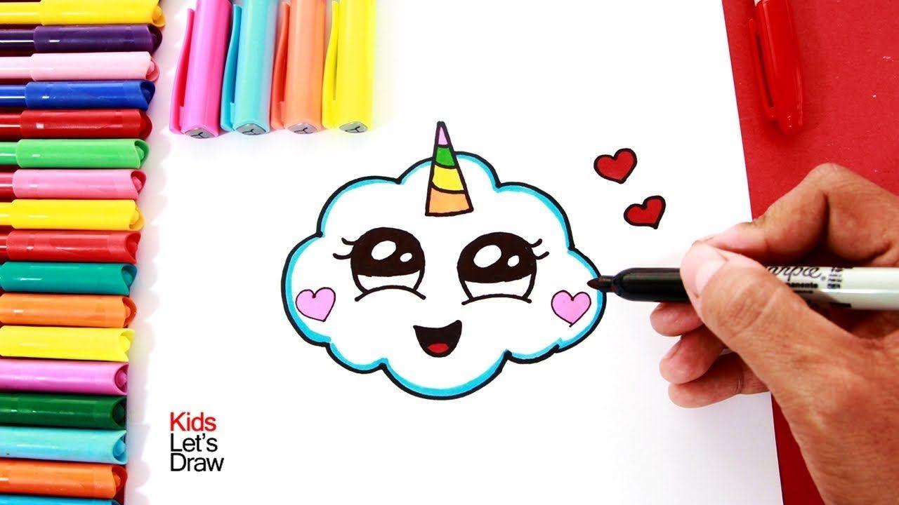 Cómo Dibujar Una Nube Unicornio How To Draw A Cute Unicorn Cloud 2 Dibujos Kawaii Faciles Dibujos Kawaii Como Hacer Dibujos Kawaii
