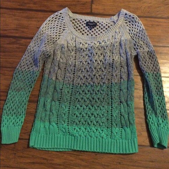 American Eagle Sweater American Eagle Sweater. Never been Worn but no tags. Super cute. Smoke free home. American Eagle Outfitters Sweaters Crew & Scoop Necks