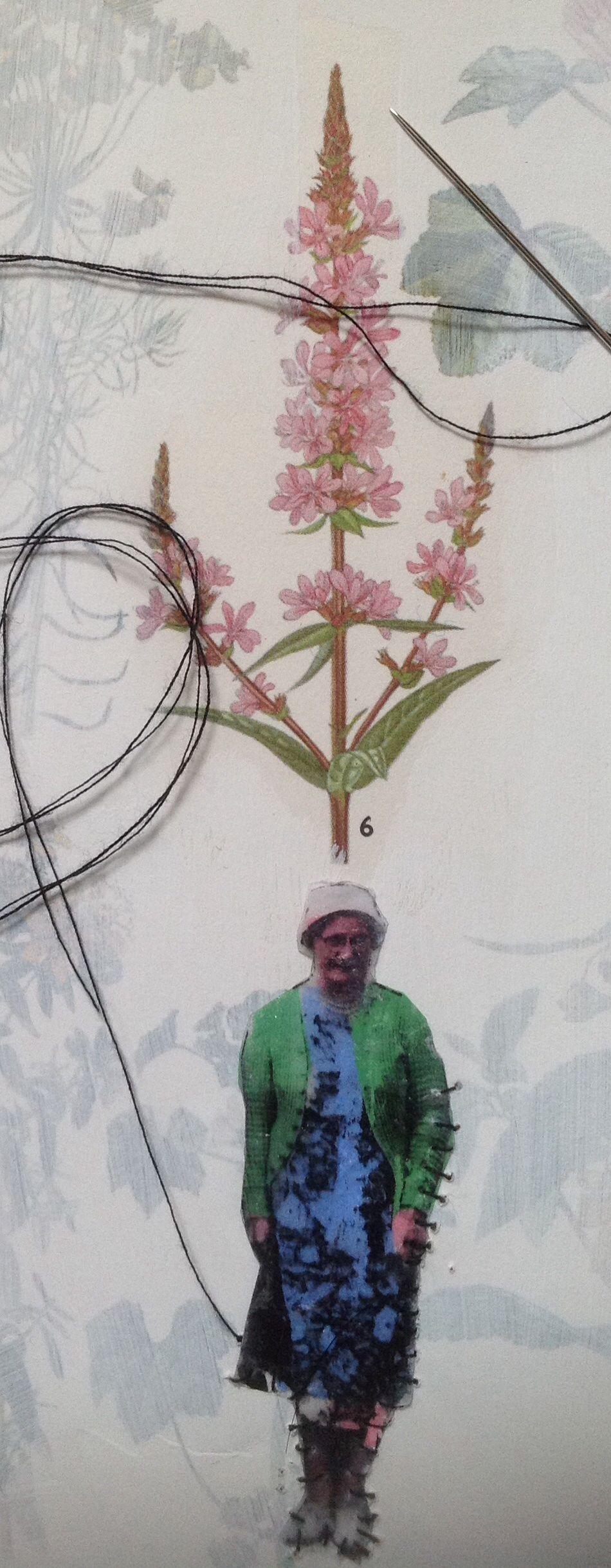 Stitching Nannas in my journal. Happy days! mrsbertimus.blogspot.com