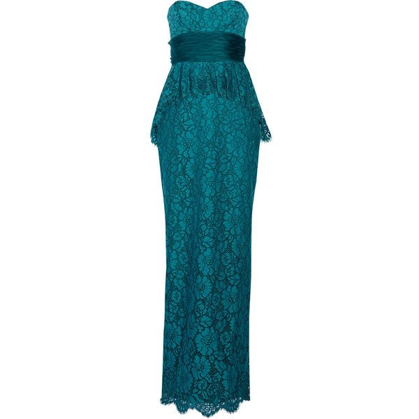 Notte by Marchesa Lace peplum gown and other apparel, accessories ...